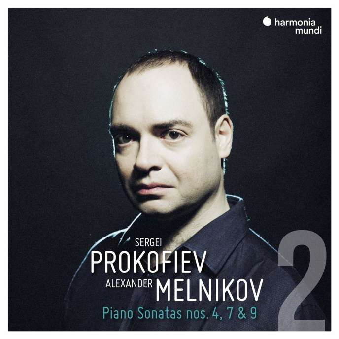 Pochette de l'album« Piano Sonatas 4, 7 & 9 » de Sergei Prokofiev, par Alexander Melnikov.