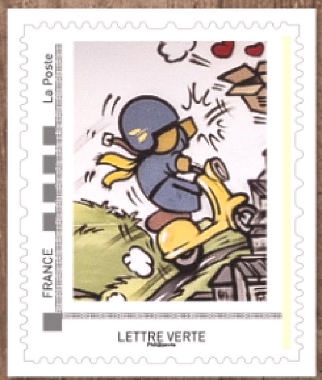 Timbre issu du collector dédié au street art édité pour la réouverture du Musée de La Poste.