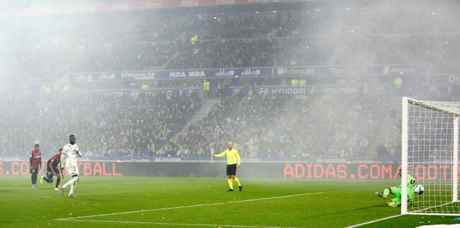 Le dernier but de Moussa Dembélé a été inscrit le 23novembre enLigue1 : un penalty transformé contre Nice.
