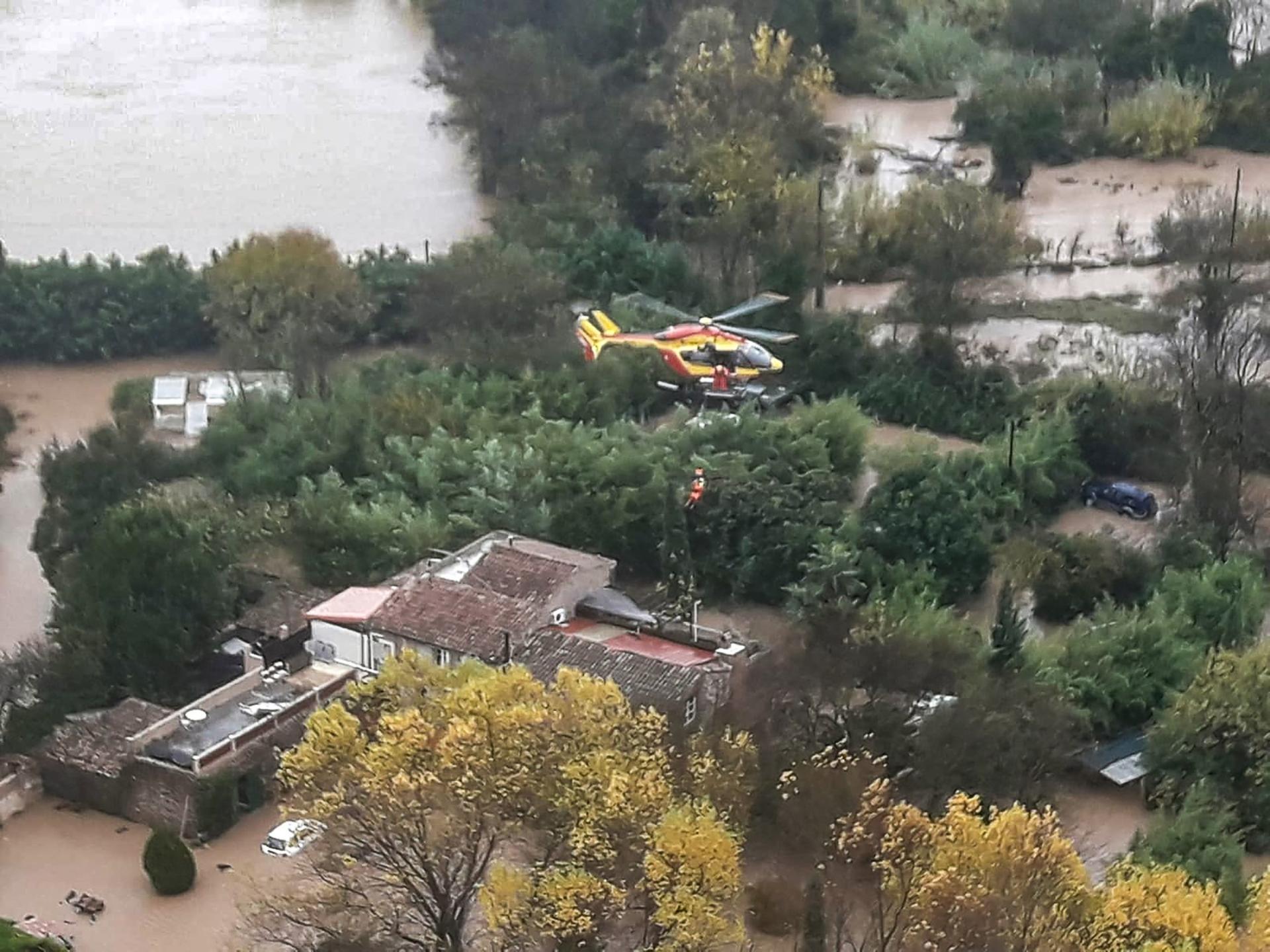 Opération de secours de la sécurité civile au Luc, dimanche matin.