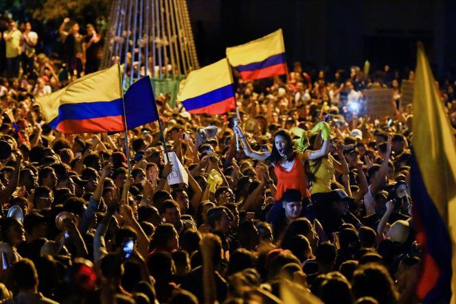 Manifestation contre le président Ivan Duque, samedi 23 novembre à Cali, troisième ville du pays.