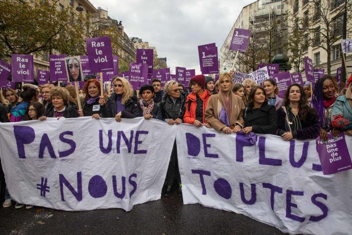 Manifestation contre les violences sexistes et sexuelles, à Paris, le 23 novembre.
