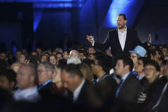 Le PDG de Salesforce, Marc Benioff en 2013 à San Francisco.