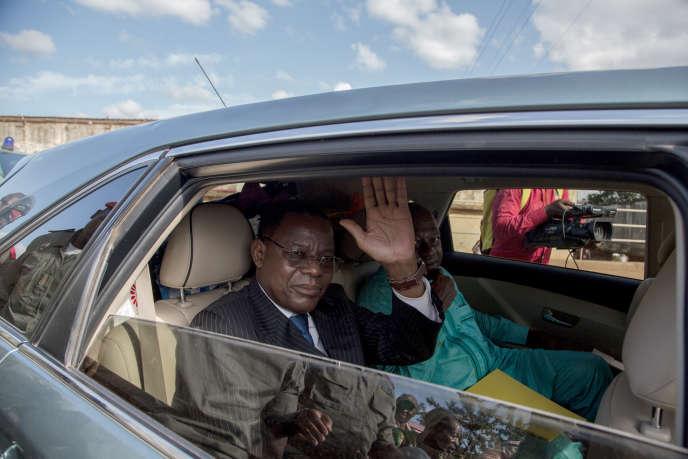 Maurice Kamto, président du Mouvement pour la renaissance du Cameroun (MRC) et principal opposant, le jour de sa libération de prison,le 5 octobre 2019, à Yaoundé.