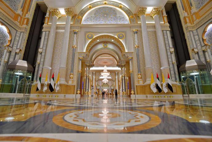 Le palais présidentiel d'Abou Dhabi, décoré par l'architecte d'intérieur Xavier Cartron, le 4 février.