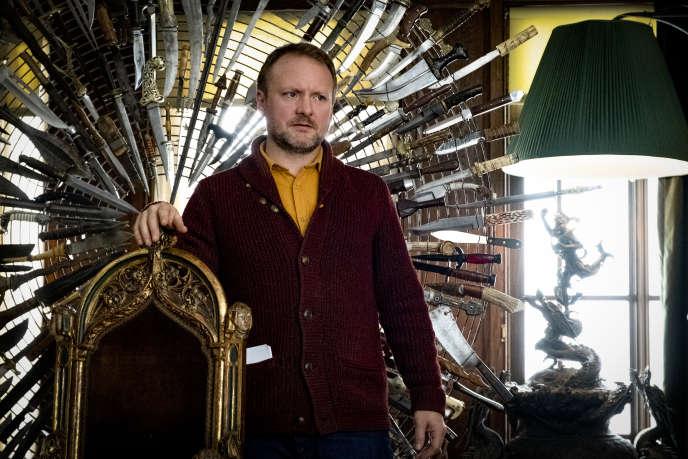 Rian Johnson sur le tournage de son film «A couteaux tirés».