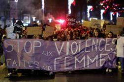 Une manifestation contre les féminicides et les violences faites aux femmes, à Nantes, le 25 novembre 2019.