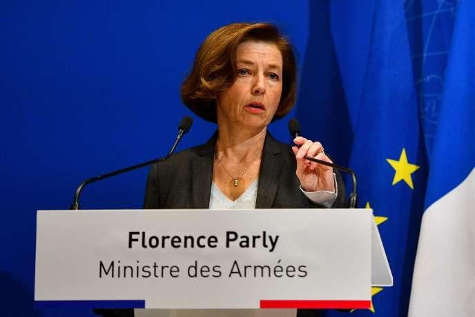La ministre des armées, Florence Parly, le 26novembre à Paris.