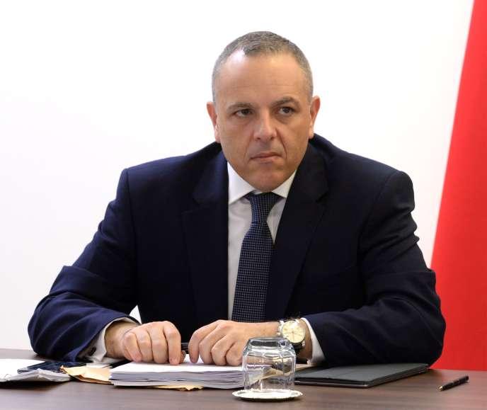 Keith Schembri, chef de cabinet du premier ministre maltais Joseph Muscat, le 9octobre 2018à LaValette (Malte).