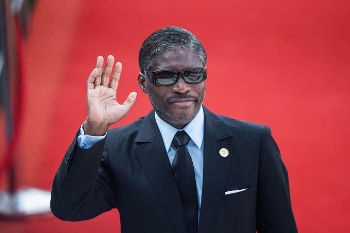Le vice-président équato-guinéen, Teodorin Obiang, à Pretoria, en Afrique du Sud, le 25mai 2019.