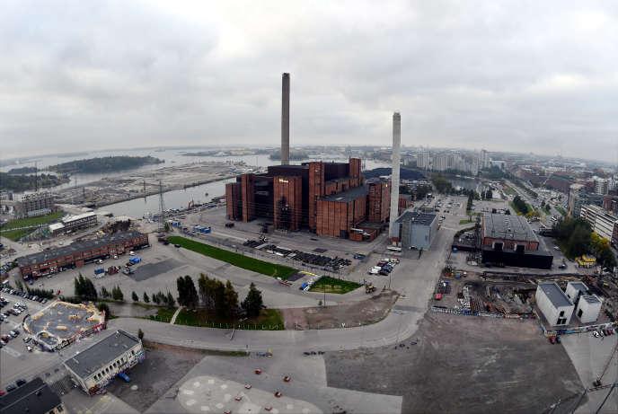 La centrale Hanasaari, à Helsinki. La Finlande a décidé debannir l'usage du charbon d'ici à 2029.