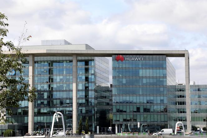Le siège de Huawei France, à Boulogne-Billancourt (Hauts-de-Seine), en 2017.