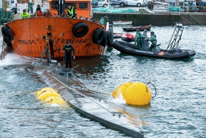Le « narco sous-marin » découvert cette semaine en Galice.