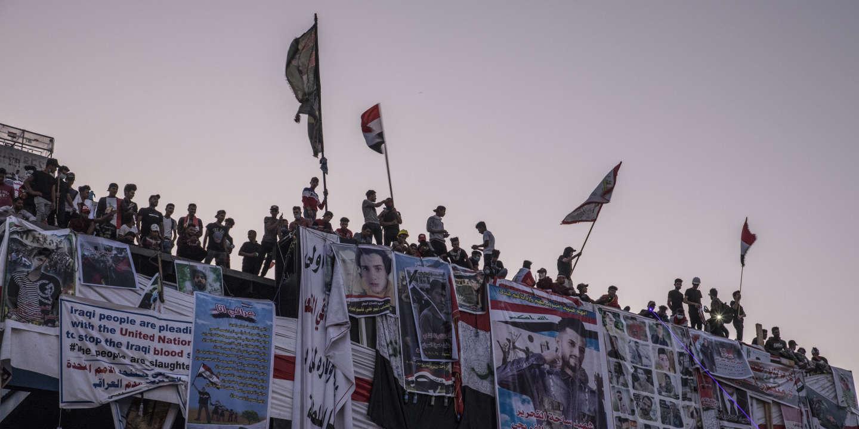 Baghdad, Irak, le 6/11/2019   Des portraits de victimes des manifestations qui ont débuté en octobre sont affichés sur le