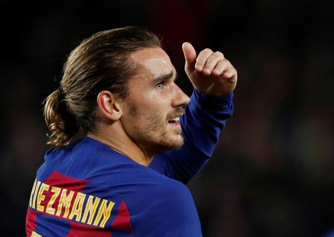 Antoine Griezmann sous le maillot barcelonais, une image qui appartient peut-être déjà au passé. Le Français est arrivé au club en 2019. Ici, le 27 novembre 2019, au Camp Nou, à Barcelone.