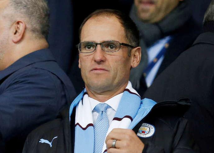 Egon Durban,directeur général de Silver Lake,le 23 novembre, au City of Manchester Stadium.