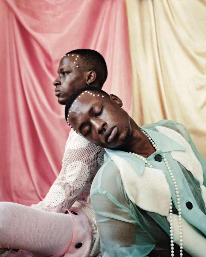 Untitled (Twins II), New York, 2017.Photo parue dans «Dazed»,en 2017, signée Tyler Mitchell (24 ans, né à Atlanta, états-Unis).