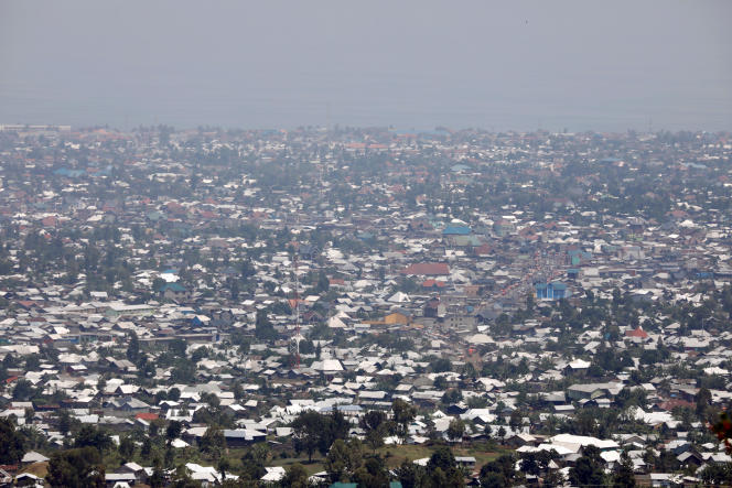 La ville de Goma, chef-lieu de la province du Nord-Kivu, en août 2019.