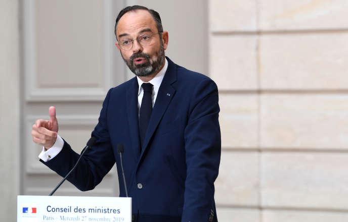 Le premier ministre, Edouard Philippe, le 27 novembre à Paris.