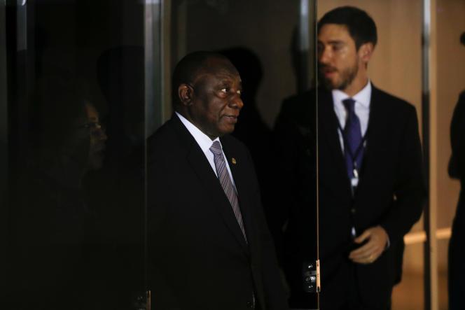 Le président sud-africain, Cyril Ramaphosa, à Brasilia, le 13novembre 2019.