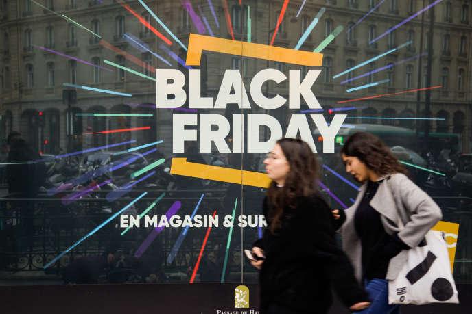 «Black Friday», à Paris, le 23 novembre 2018.