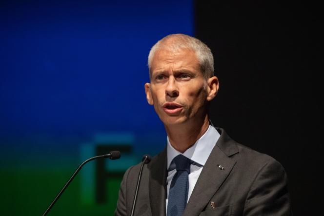 Le ministre de la culture, Franck Riester, le 13 septembre, à La Rochelle.