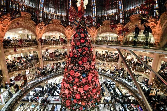 Les Galeries Lafayette, à Paris, le 20 novembre.