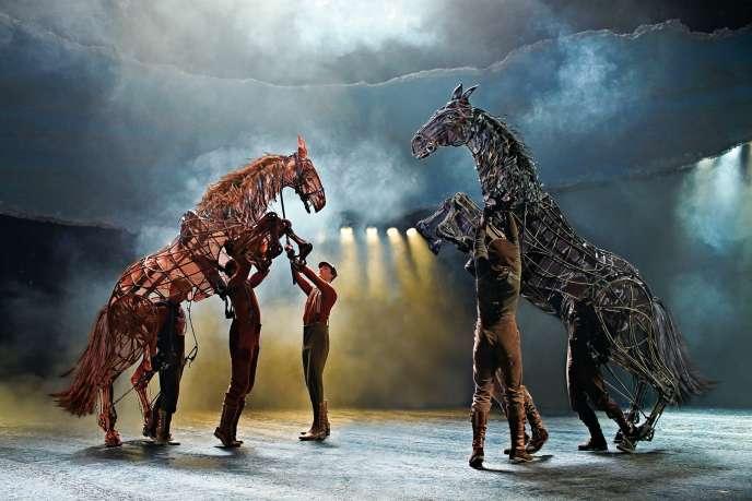 Lors d'une représentation de « War Horse» auNew London Theatre.