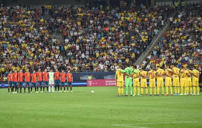 La Roumanie accueillait l'Espagne à l'Arena National de Bucarest, le 5septembre2019.
