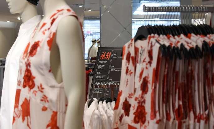 Le magasin H&M des Galeries Lafayette, à Paris, en juin 2018.