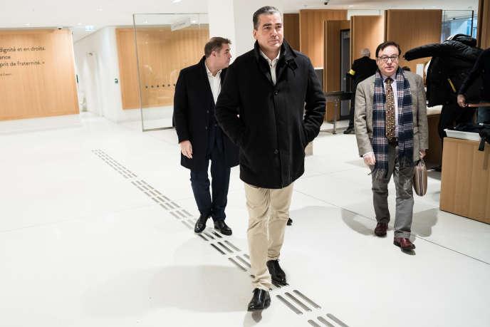 Frédéric Châtillon, Axel Loustau et Jean-François Jalkh, au tribunal correctionnel de Paris, le 6 novembre 2019.