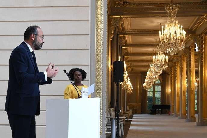 Le premier ministre, Edouard Philippe, lors d'une allocution prononcée à l'issue du conseil des ministres, à l'Elysée, à Paris, le 27 novembre.