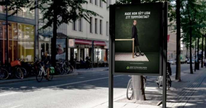 Campagne pour l'inclusion des personnes handicapées lancée par le Pôle emploi suédois.