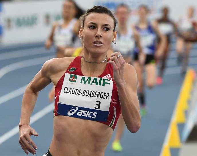 Ophélie Claude-Boxberger lors de l'épreuvesur 1 500 m aux championnats de France d'athlétisme à Miramas (Bouches-du-Rhône), le 17 février.