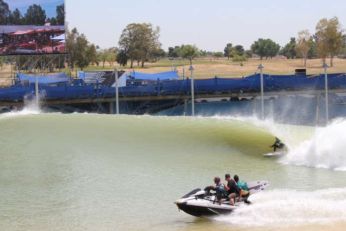 Au surf ranch de Lemoore (Californie), en mai 2018.
