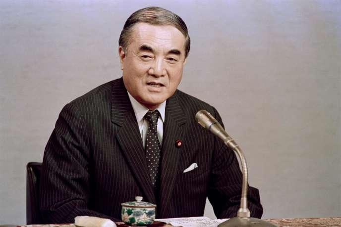 L'ex-premier ministre japonais Yasuhiro Nakasone à Tokyo, en 1987.