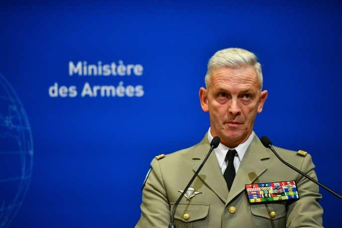 Le général Francois Lecointre, chef d'état-major des armées françaises, lors d'une conférence de presse à Paris, le 26novembre 2019.