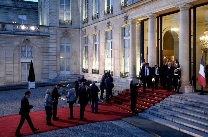 Réception à l'Elysée en l'honneur des maires de France, en marge du Congrès des maires du 20 novembre.