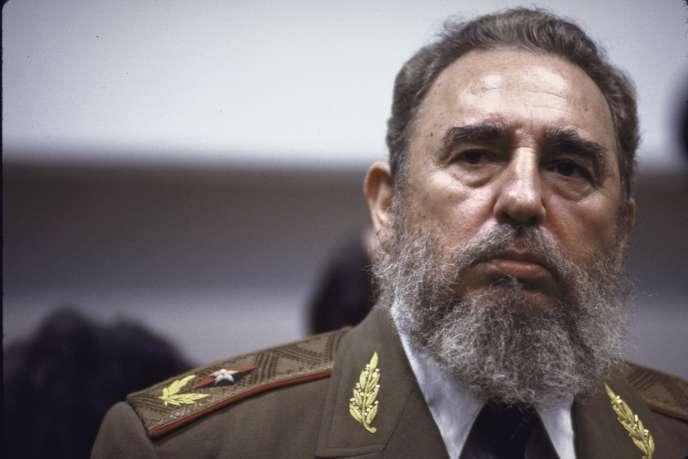 Fidel Castro, en avril 1989, à Cuba.