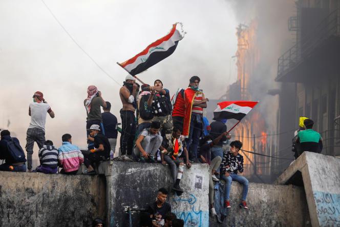 Manifestation à Bagdad, la capitale irakienne, le 30 novembre.