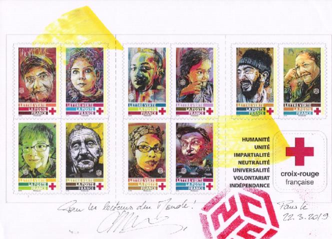 Carnet de timbres-poste paru en 2019.