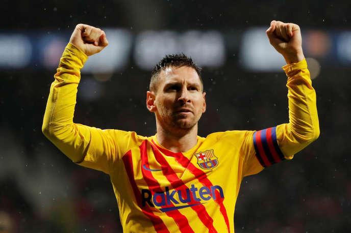 Lionel Messi, auteur du but victorieux face à l'Atlético Madrid, le 1er décembre.