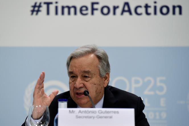 «Les plus gros émetteurs mondiaux (de CO2) ne font pas leur part, et, sans eux, notre objectif n'est pas atteignable»,a affirmé le secrétaire général des Nations unies, Antonio Guterres.