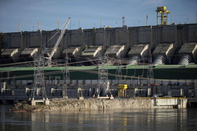 Le barrage de Belo Monte à Altamira sur un affluent de l'Amazone, au Brésil, le 11 mars.