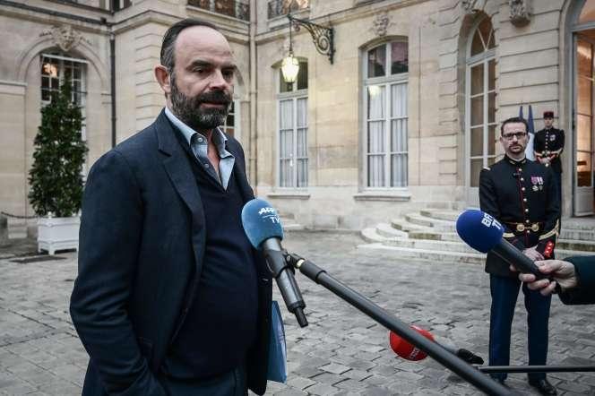 Le premier ministre, Edouard Philippe, à Matignon, le 1er décembre.