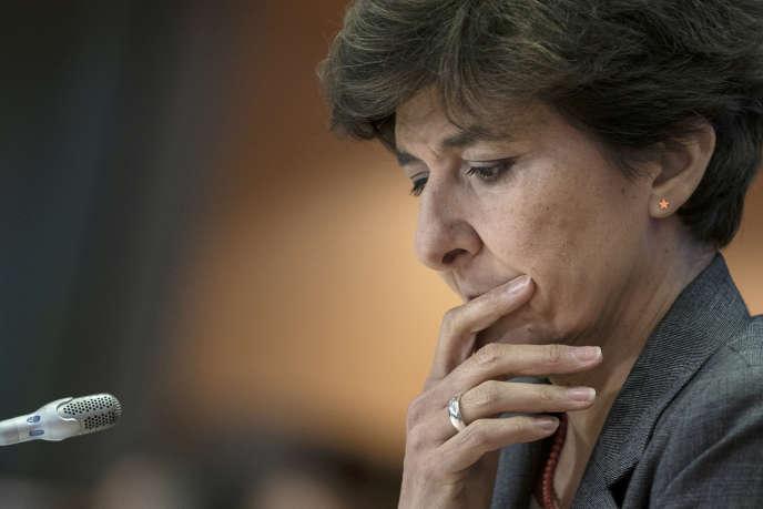 Sylvie Goulard, pendant son audition à la Commission européenne, à Bruxelles, le 10 octobre.