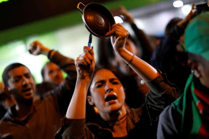 Manifestation à Bogota, le 1er décembre 2019.