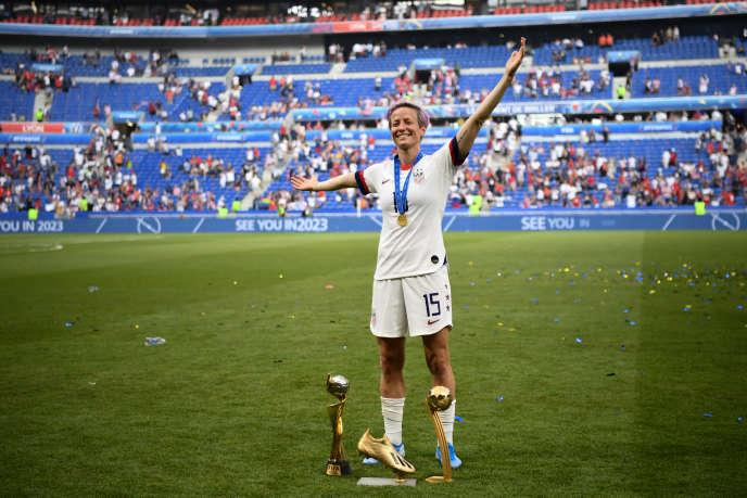 Megan Rapinoe – ici le 7 juillet à Décines (Rhône) – a accumulé les trophées individuels et collectifs en 2019.