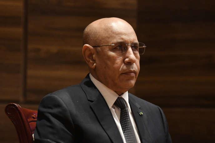 Le président mauritanien, Mohamed Ould Ghazouani, lors de sa cérémonie d'investiture, à Nouakchott, le 1er août.