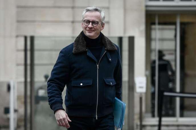 Le ministre de l'économie, Bruno Le Maire, à Matignon, à Paris le 1er décembre.